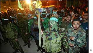 Funeral for Hamas member