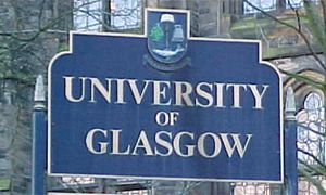 Glasgow University sign