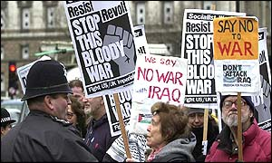 Anti-war protesters lobby Parliament
