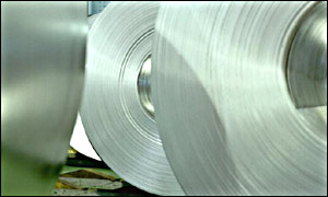 Strip steel at Corus, Britain�s biggest steel-maker.