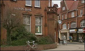 Lloyds Bank in Felixstowe