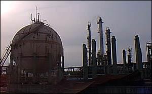 Storage sphere at Pancevo   Alex Kirby