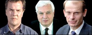 Matt Frei, John Simpson and Andrew Marr