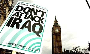 Anti-war demo in Westminster