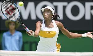 Venus Williams reaches for a winner