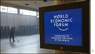 Display screen at the World Economic Forum