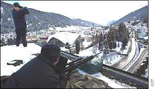 Armed police in Davos