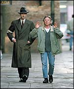 Adrien Brody (left) and Roman Polanski on set