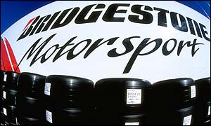 Bridgestone tyres in the Formula One paddock