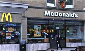 A McDonald's restaurant in Harrogate, UK