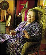 Kathy Bates as the smug hippy mother