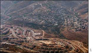 Beitar settlement and Palestinian village of Nahhalin