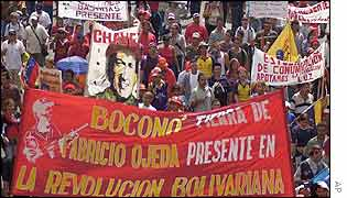 Pro-Chavez rally in Caracas on Thursday