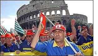 Fiat protestors in Rome