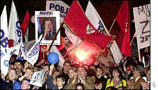 Montenegrins rally in support of pro-independence Montenegrin President Milo Djukanovic