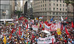 Demonstration at Porto Alegre