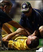 Michael Bevan receives treatment in Melbourne