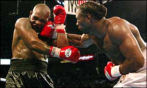 Mike Tyson was comprehensively beaten by Lennox Lewis
