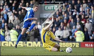 Paul Connor scores Rochdale's first goal