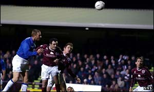 Craig Moore puts Rangers two goals up