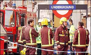 Firefighters at Chancery Lane