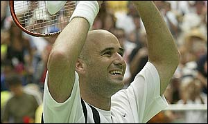 Andre Agassi wins the 2003 Australian Open