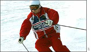 Vladimir Putin on skis