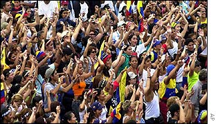 Venezuelans hold a dancing protest in Caracas