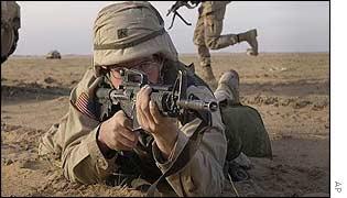 US soldier training in Kuwait