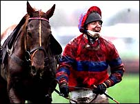 Red Marauder and Richard Guest after winning the National in heavy going