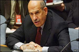 International Atomic Energy Agency chief Mohamed ElBaradei