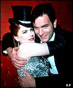 Kidman with Ewan McGregor in Moulin Rouge
