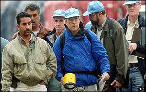 UN inspectors at work in Iraq