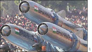 Brahmos cruise missiles on display in Delhi