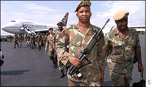 South African troops in Burundi