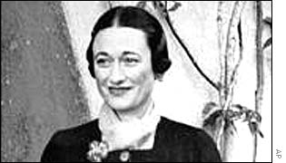 Wallis Simpson in December 1936, days before the abdication