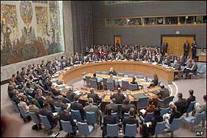 UN Security Council listens to the weapons inspector's report on Monday