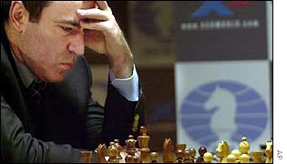 Garry Kasparov during Tuesday's match
