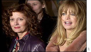 Susan Sarandon and Goldie Hawn at the London premi�re of The Banger Sisters