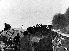The scene of the crash in Munich