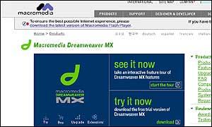 Macromedia website