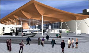 Lord Rogers design for the new Welsh Assembly buidling