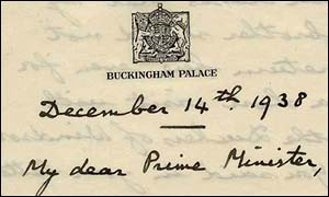 The Royal ban: King's letter to PM