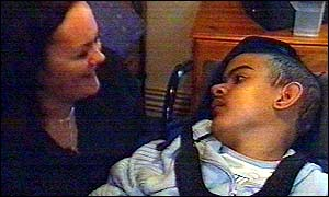Siobhan Sayers and her son Everol, who has spina bifida