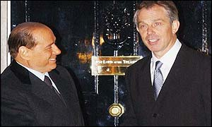 Silvio Berlusconi and Tony Blair