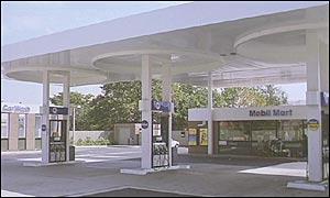 A Mobil pertol station