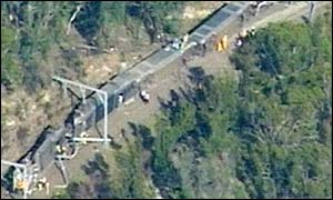 The scene of the crash near Waterfall, New South Wales