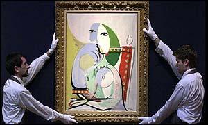 Picasso's Femme dans un fauteuil