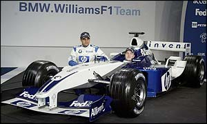 Juan Pablo Montoya and Ralf Schumacher unveil the FW25