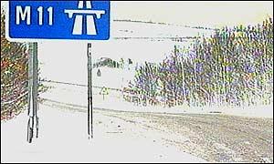 M11 slip road